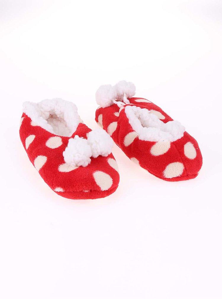 Papuci de casă roșii cu alb Something Special by Moon