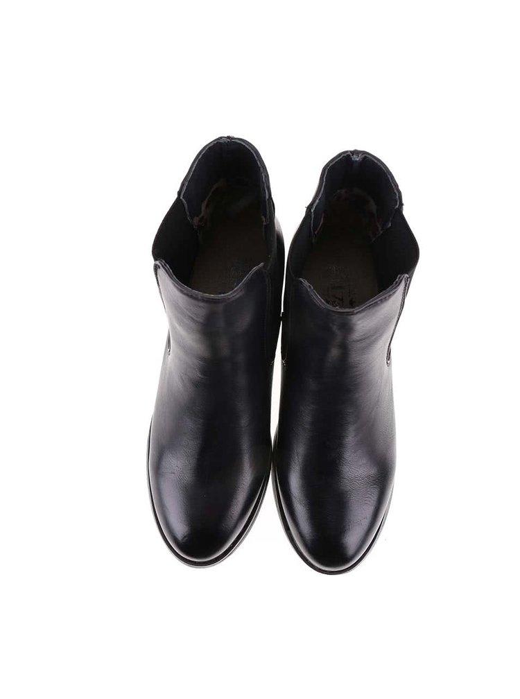 Čierne chelsea topánky s detailmi v zlatej farbe Xti
