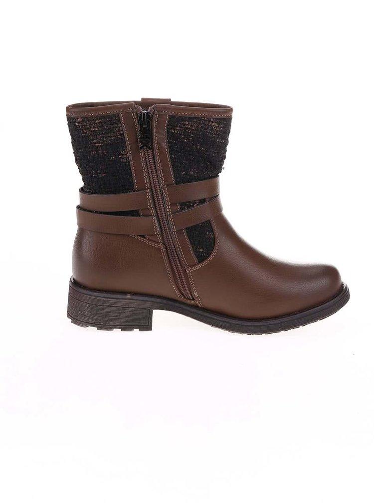 Hnedé vyššie topánky Xti