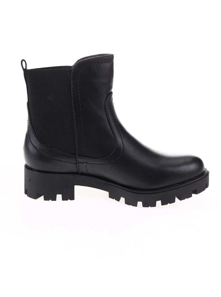 Čierne členkové topánky s pružným dielom Xti
