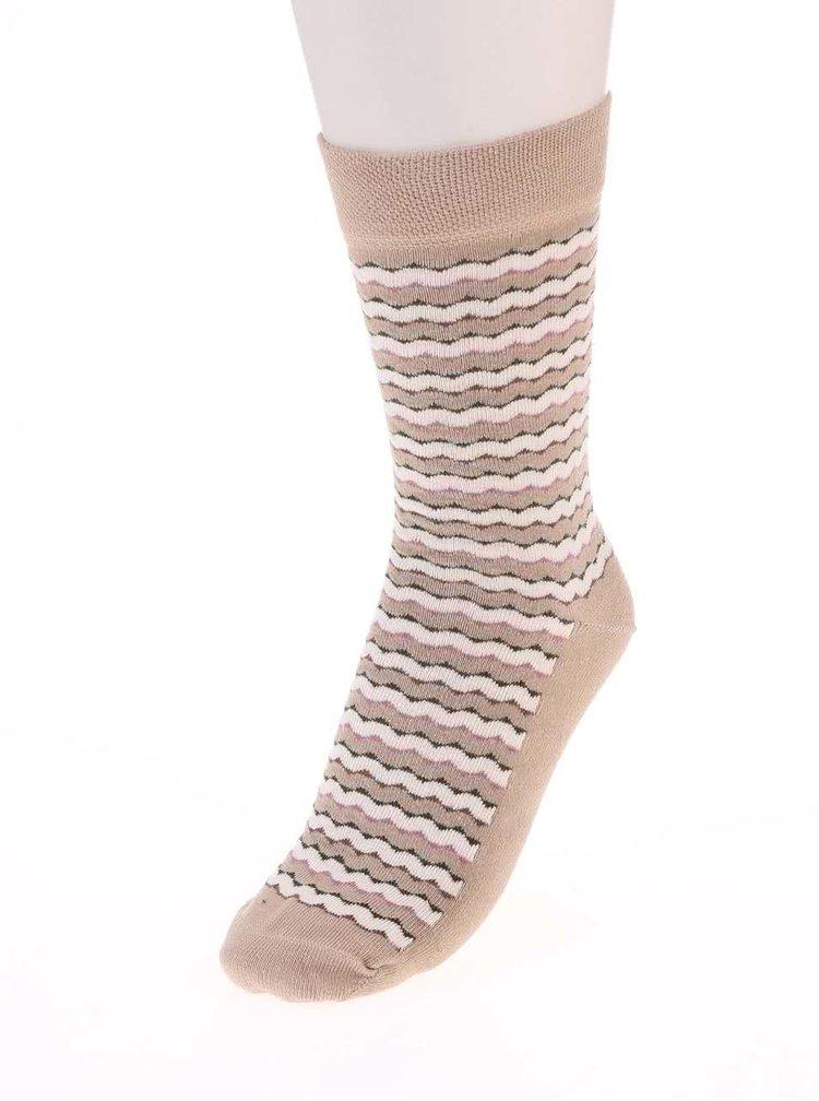 Tri páry farebných pruhovaných ponožiek OJJU