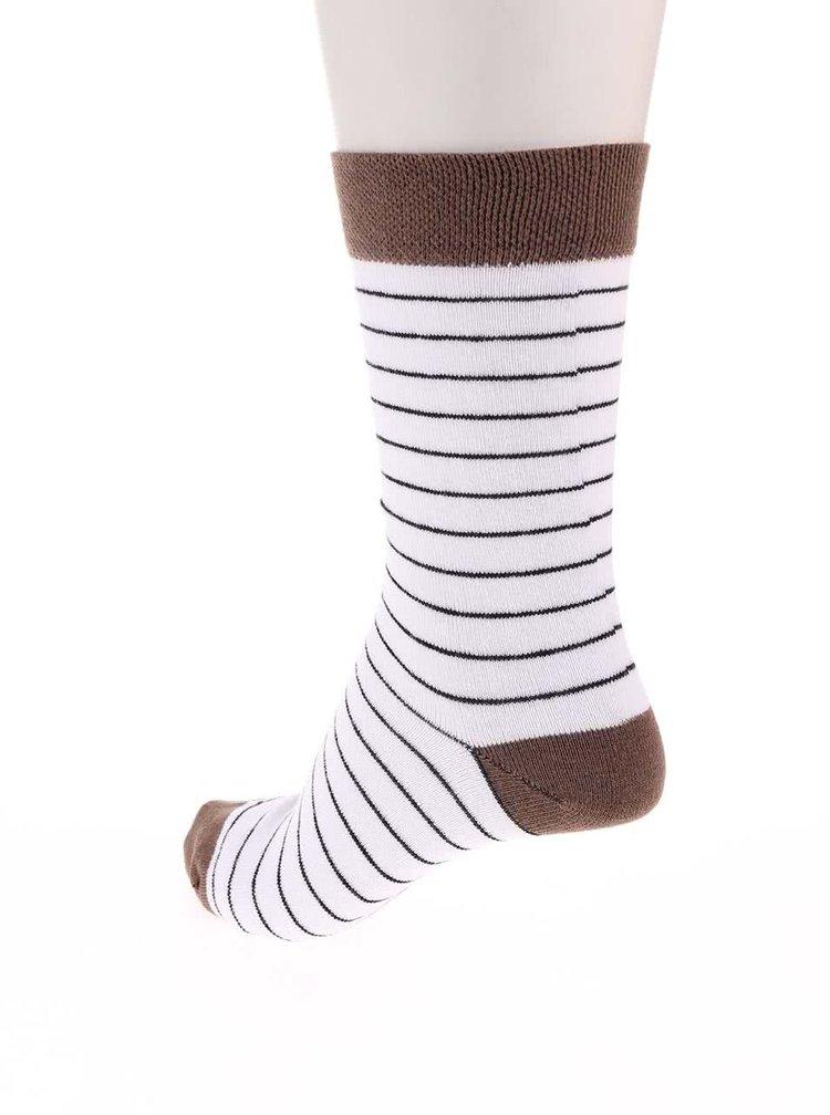 Barevné ponožky s puntíky a pruhy v sadě tří párů OJJU