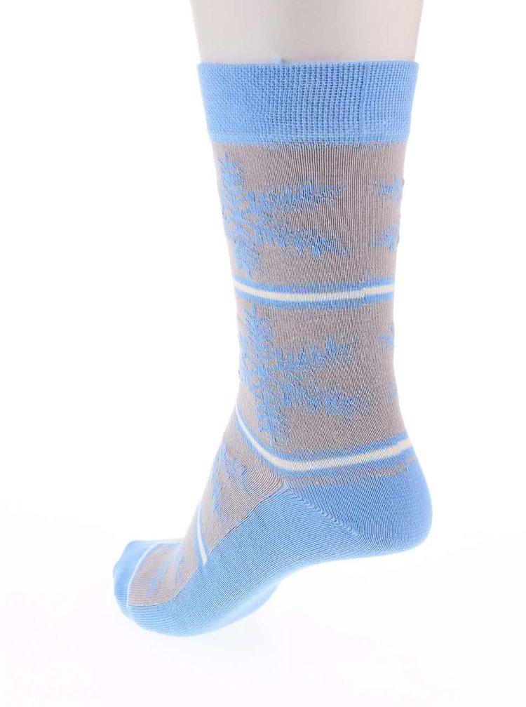 Tri páry farebných ponožiek s vločkami OJJU