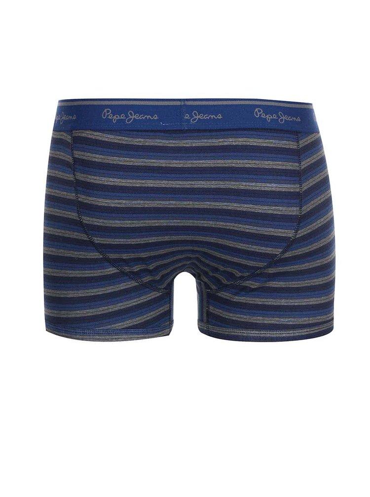 Kolekcia dvoch modrých boxeriek Pepe Jeans Sidcup