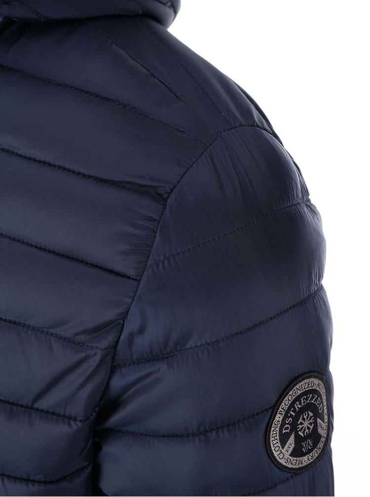 Jacheta matlasata cu gluga bleumarin de la Dstrezzed