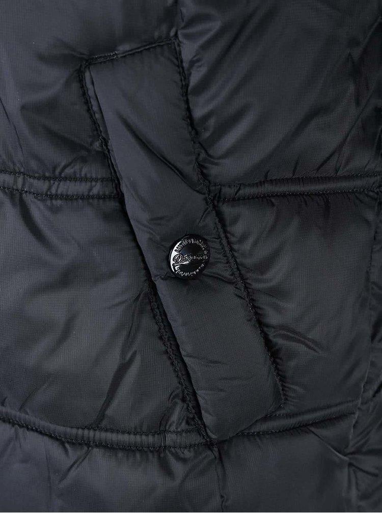Černá prošívaná bunda Dstrezzed