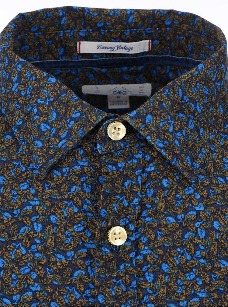 Zeleno-modrá vzorovaná košile Dstrezzed