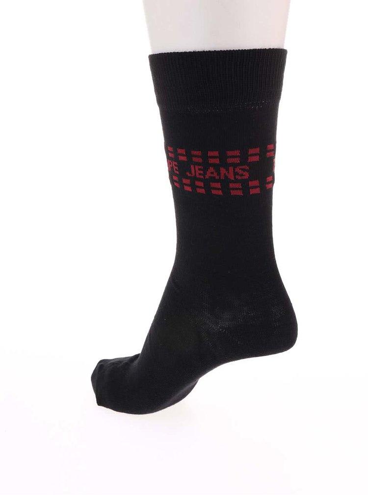 Set de trei perechi de șosete - negre Pepe Jeans Wapping