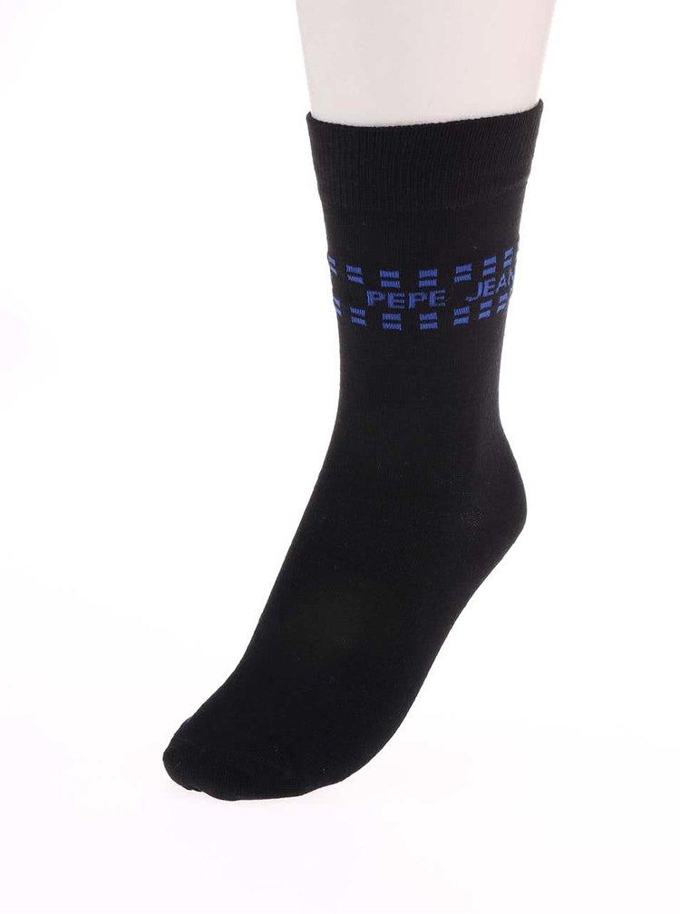 Sada troch párov čiernych ponožiek Pepe Jeans Wapping
