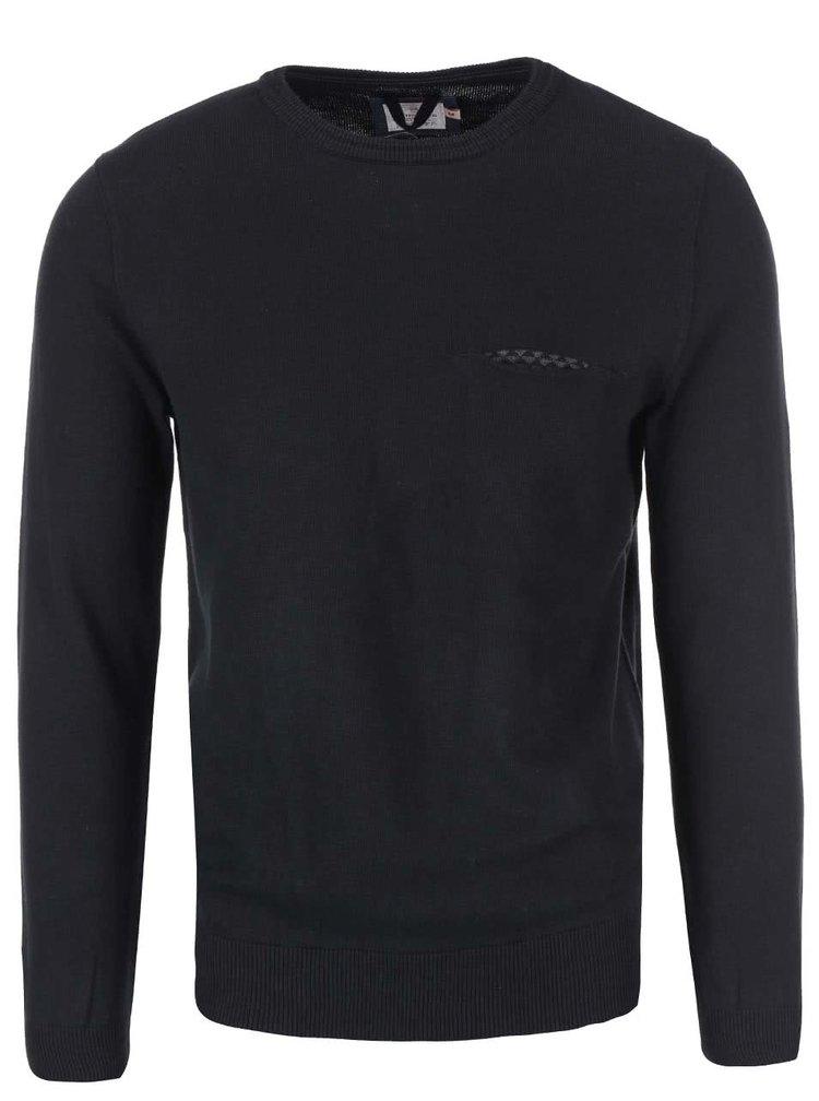Černý svetr s kulatým výstřihem Dstrezzed