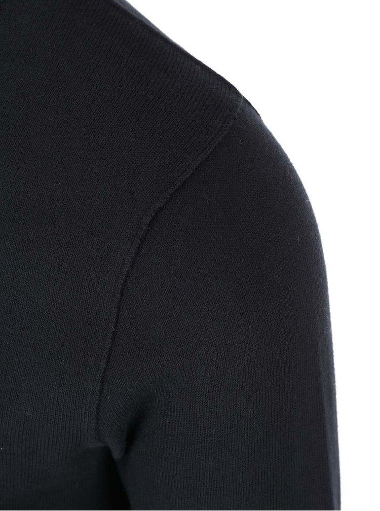 Čierny sveter s guľatým výstrihom Dstrezzed
