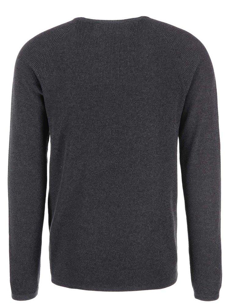 Sivý pánsky sveter Selected Homme Cardigan