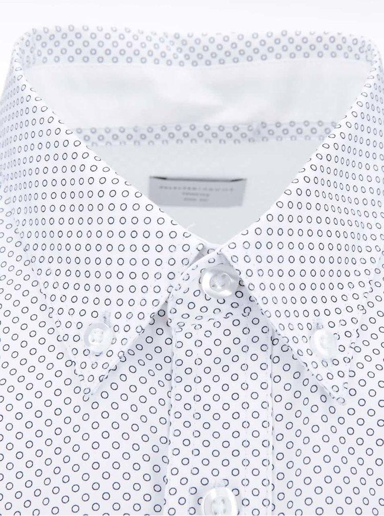 Biela košeľa s krúžkovým vzorom Selected