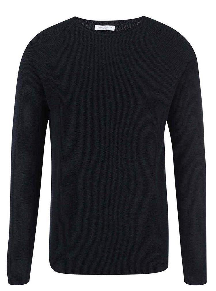 Tmavě modrý pánský svetr Selected Cardigan