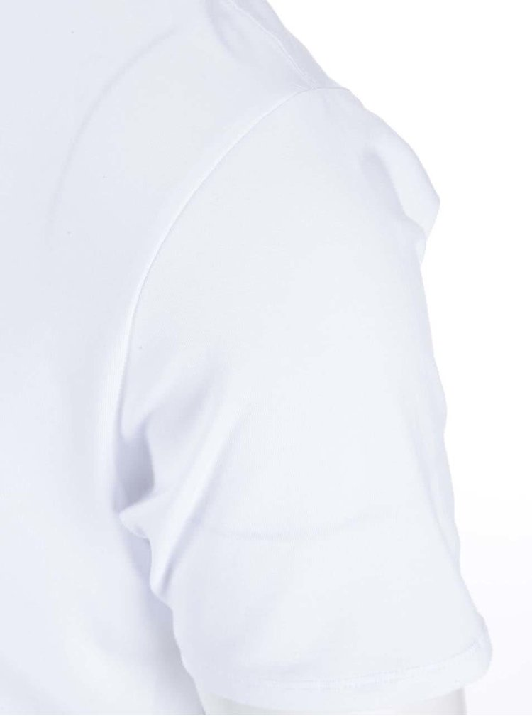 Tricou alb cu anchior Selected Homme Pima