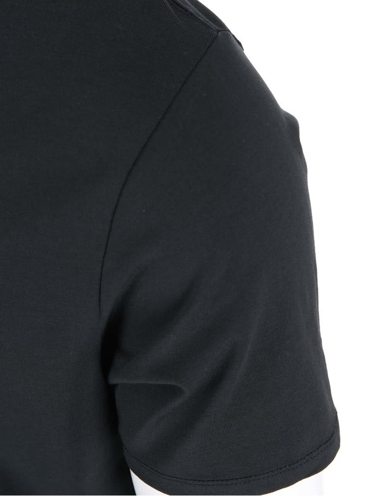 Čierne tričko Selected Homme Pima