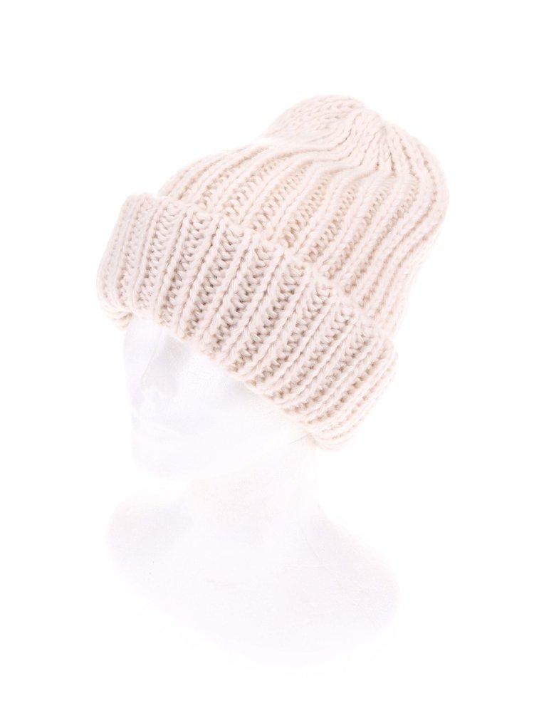 Caciula Vakky tricotata crem de la Pieces