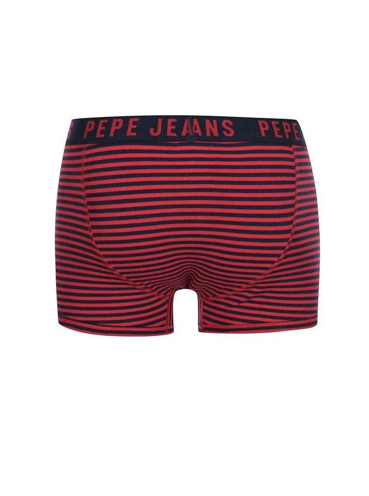 Set de două perechi de boxeri albastru-roșu Pepe Jeans Dillon