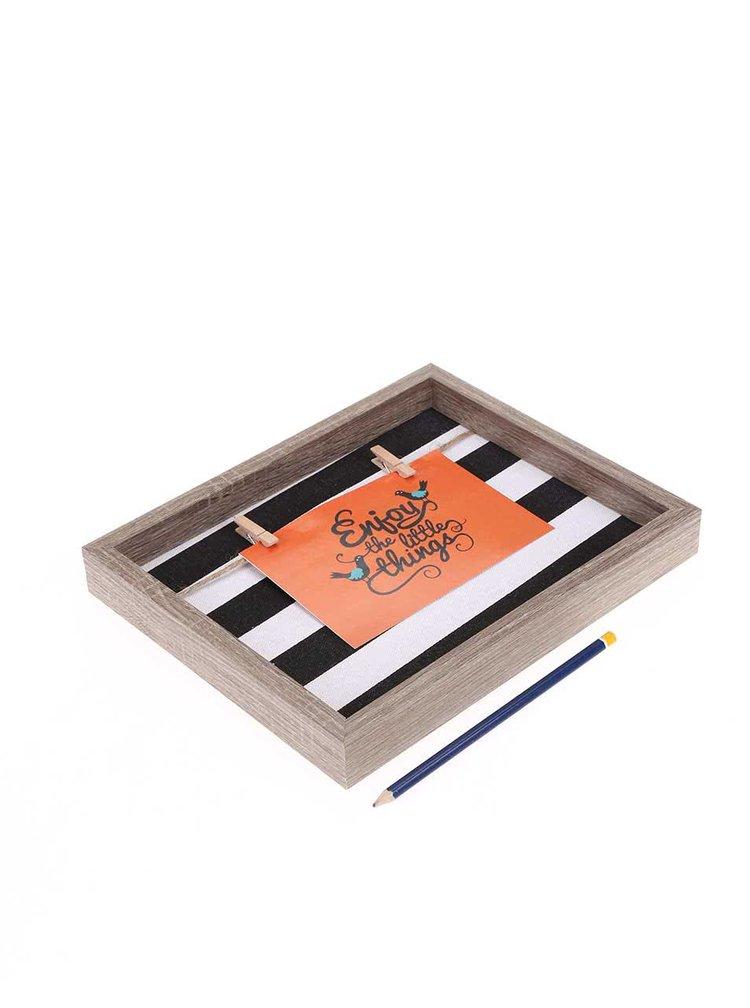 Čierno-biely rámček na fotky Helio Ferretti Thick Stripes
