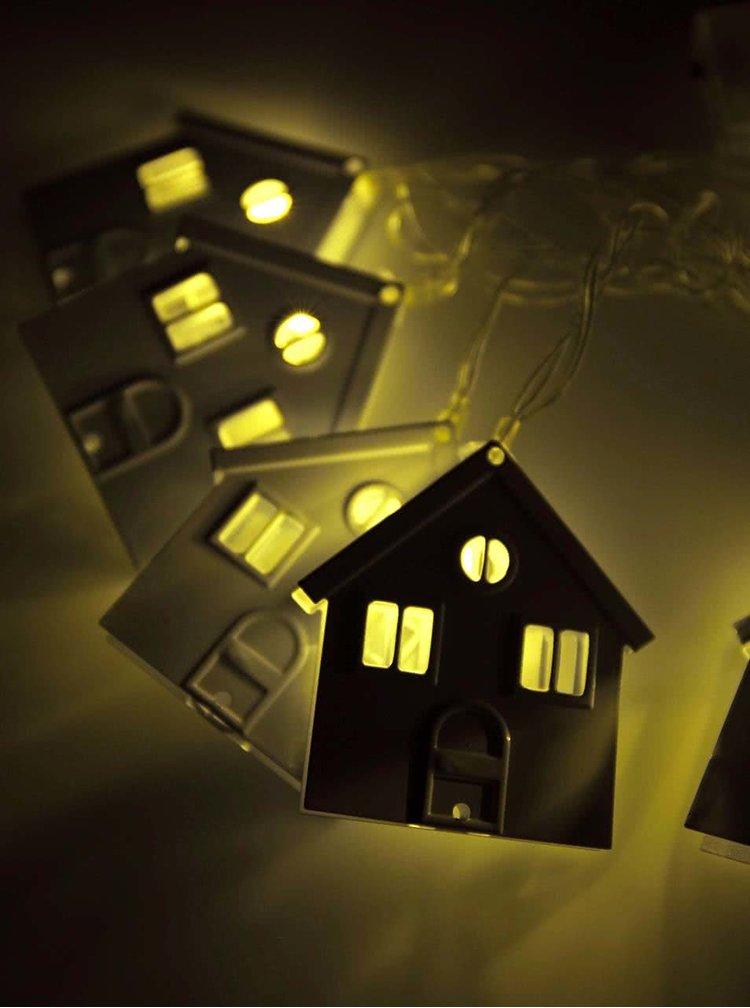 Bílá světýlka ve tvaru domků Helio Ferretti Home