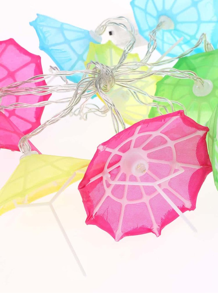 Barevná světýlka ve tvaru deštníků Helio Ferretti Umbrella