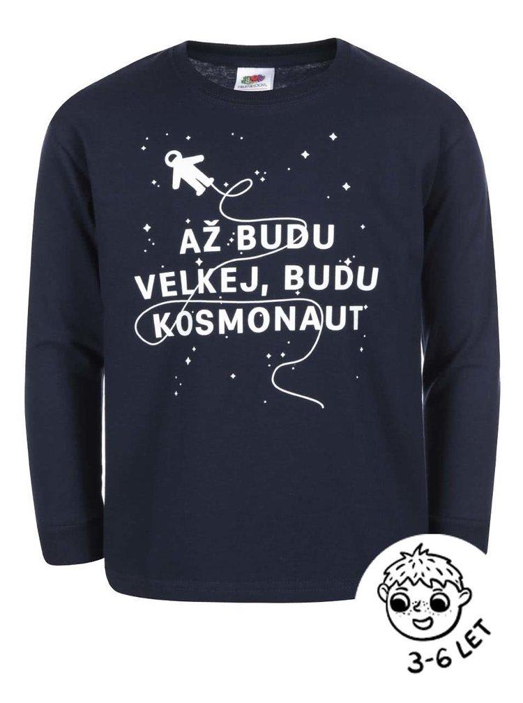 Tmavě modré klučičí triko ZOOT Kids Kosmonaut