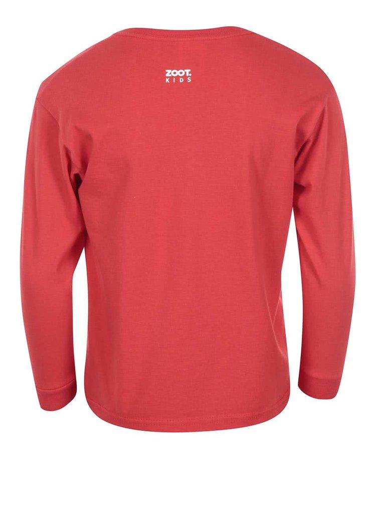 Červené dievčenské tričko ZOOT Kids Kdo si hraje nezlobí