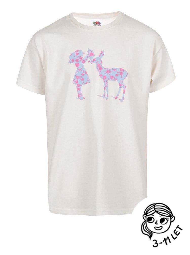 Krémové dievčenské tričko ZOOT Kids Silueta