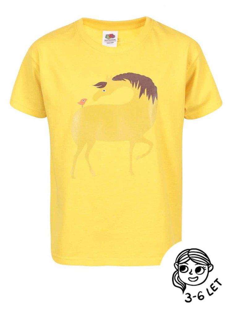 Žlté dievčenské tričko ZOOT Kids Kůň