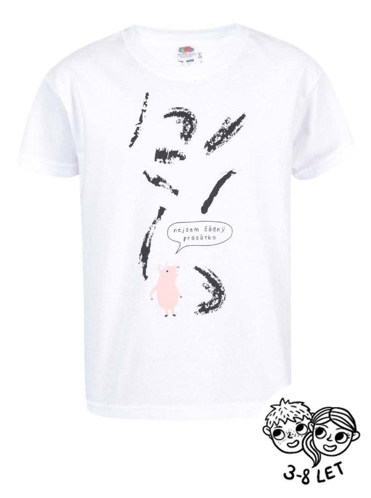 Bílé dětské triko ZOOT Kids Prasátko