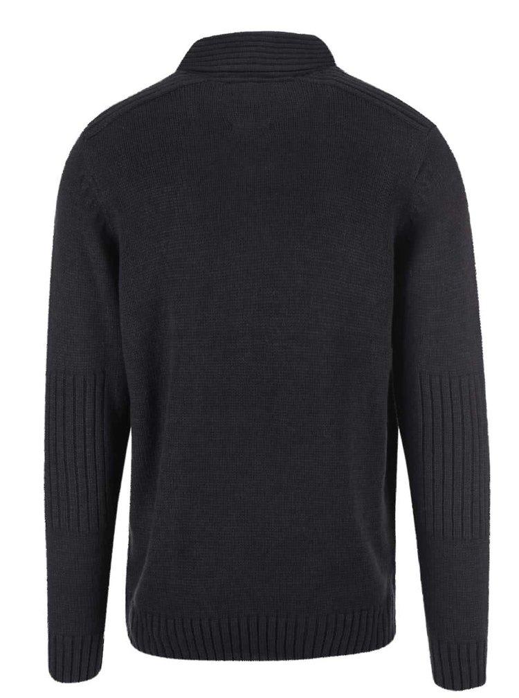 Čierny sveter s gombíkmi Blend
