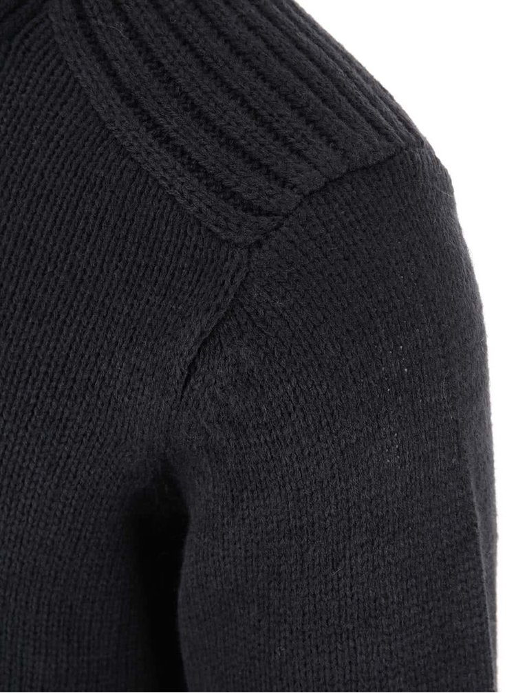 Pulover Blend cu nasturi - negru