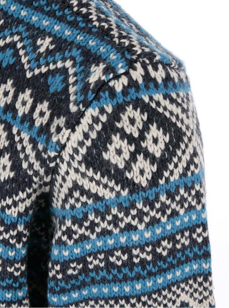 Pulover Blend cu croiala clasica cu fermoar - albastru inchis