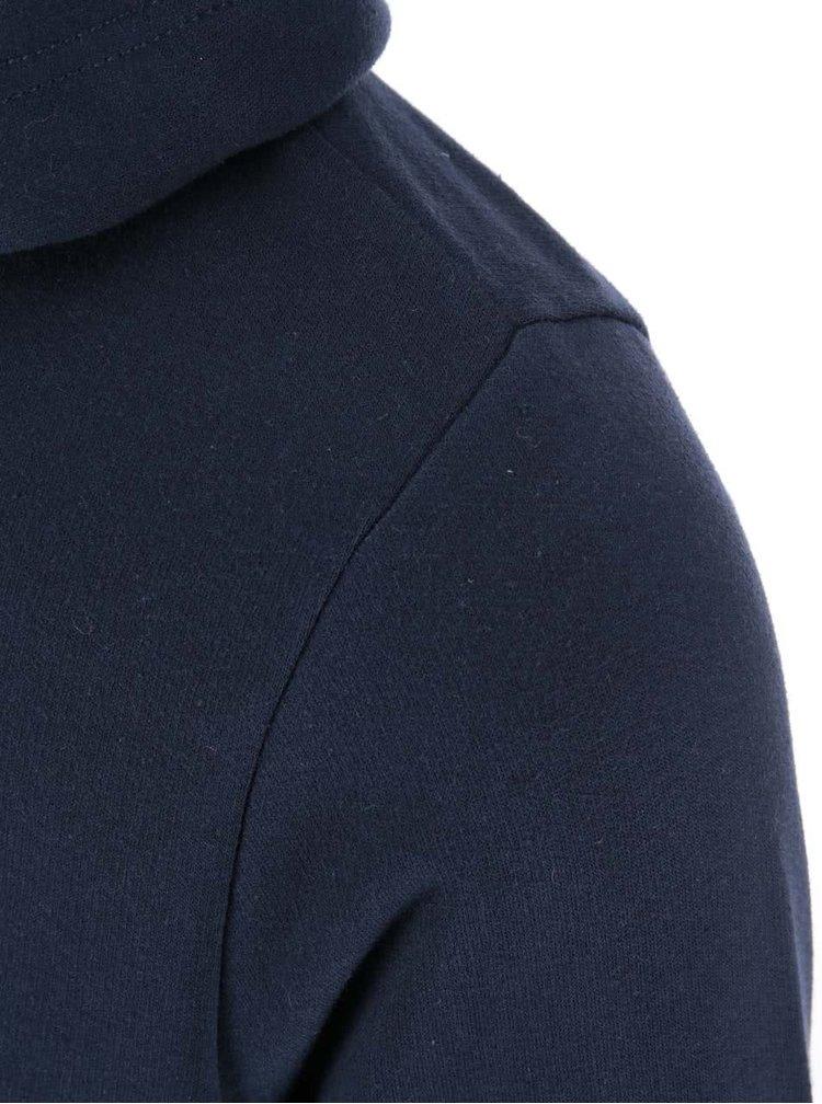 Tmavě modrá mikina na zip s kapucí Blend