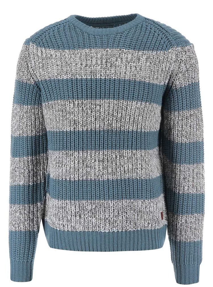 Sivo-modrý pruhovaný sveter Blend
