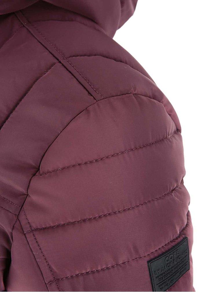 Jachetă de iarnă Gary vișinie cu puf și buzunare de la Jack & Jones
