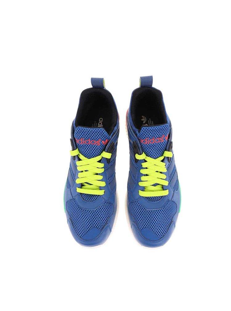 Modré pánske tenisky so zelenými šnúrkami adidas Originals