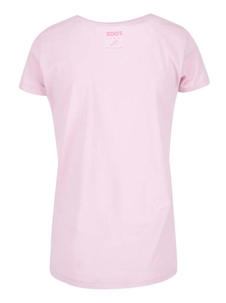 Růžové dámské tričko ZOOT Lokál Láska je masterplán