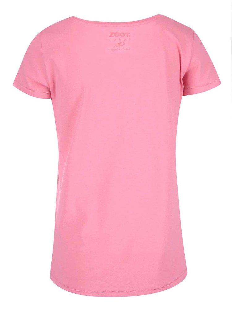 Růžové dámské tričko ZOOT Lokál Věrnost je lenost