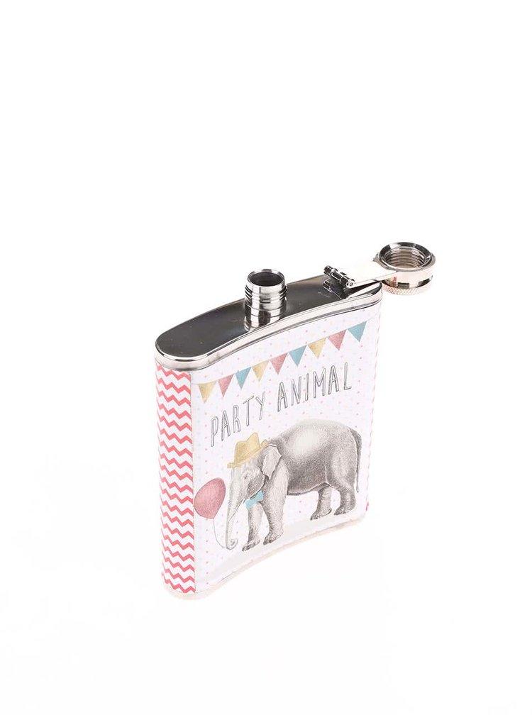 Bílá placatka se slonem Sass & Belle Party Elephant