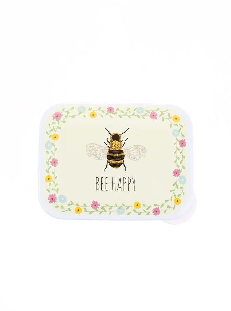 Zelený svačinový box se včelou Sass & Belle Bee Happy