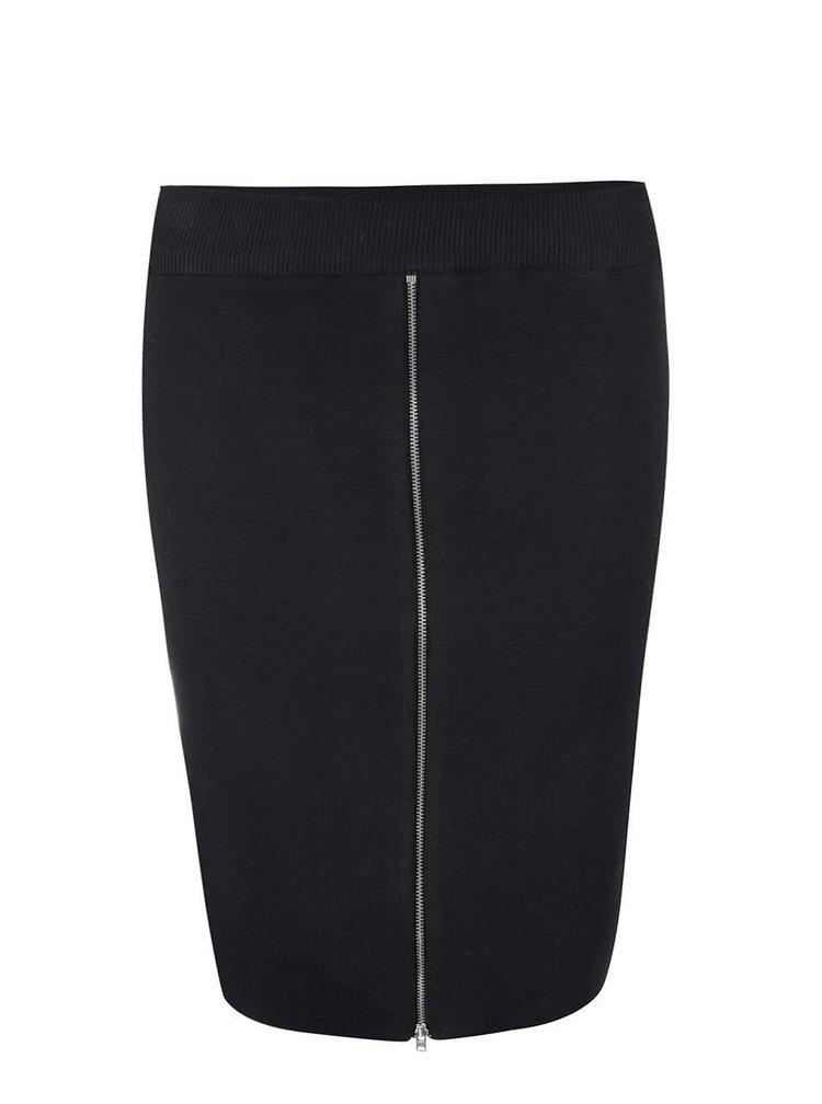 Čierna puzdrová sukňa so zipsom Noisy May Lizzy
