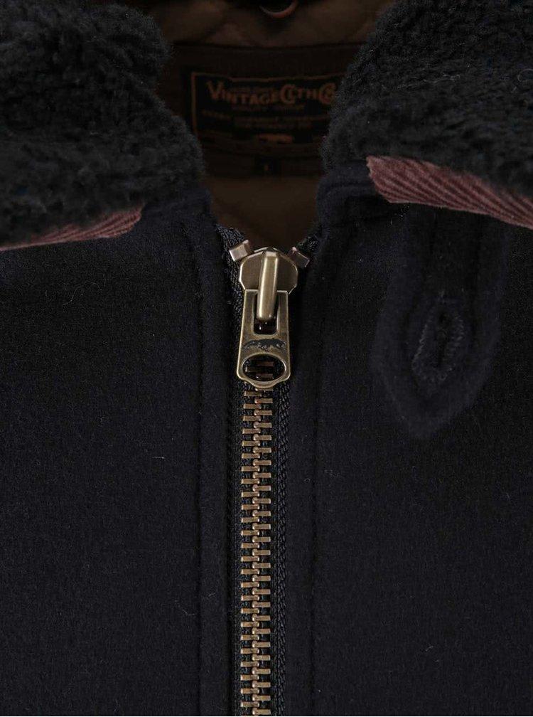 Čierna bunda s límcom Jack & Jones Watch