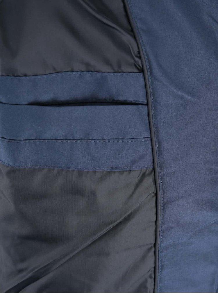 Tmavomodrá prešívaná zimná bunda Jack & Jones Sammo