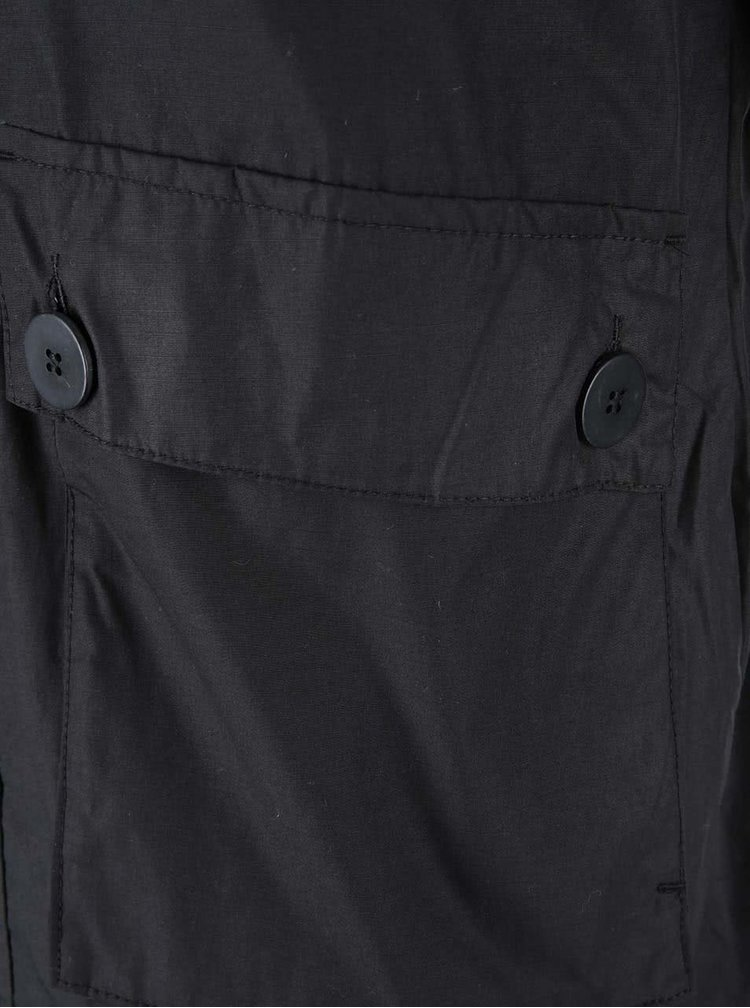 Čierna bunda s kapucňou Jack & Jones Orbiter