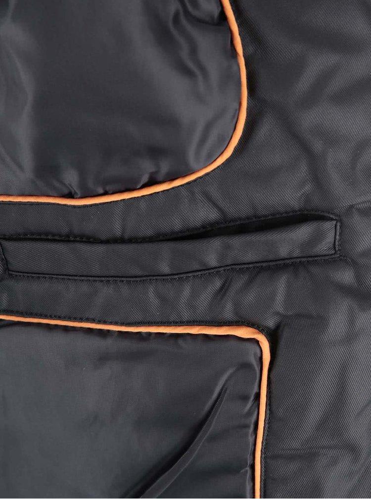 Čierna bunda s vreckami Blend