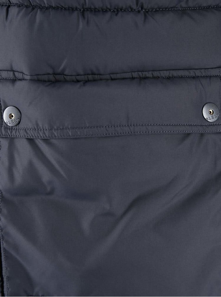 Tmavě modrá dlouhá bunda s kapsami Blend