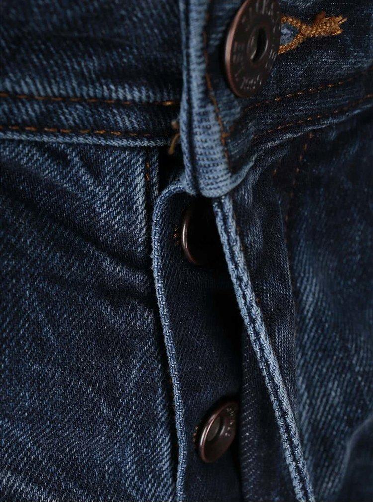 Modré pánské vyšisované džíny Jack & Jones Tim