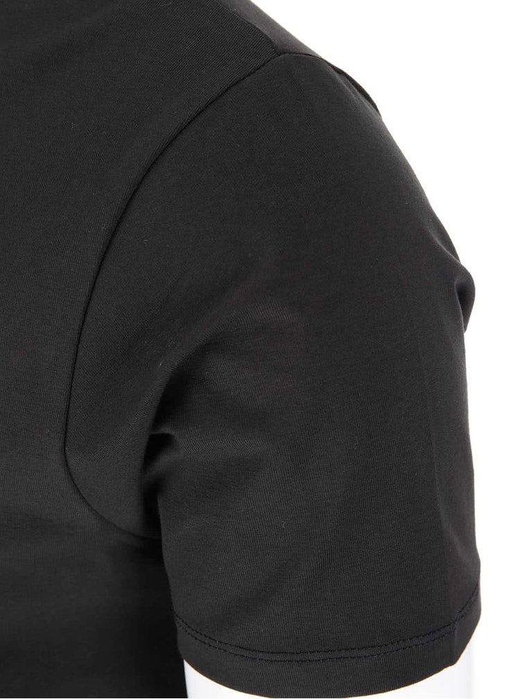 Tricou simplu cu mânecă scurtă Jack & Jones - negru