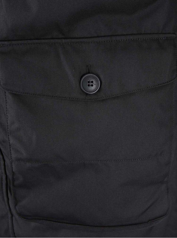 Jachetă Poker Jack & Jones cu blană - neagră